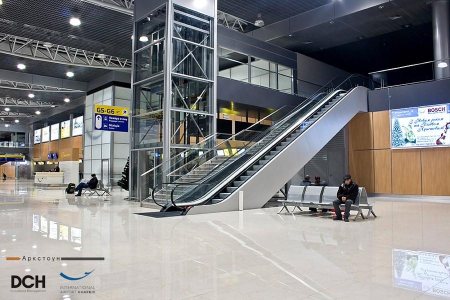 arcstone 11_Вестибюль_пассажирский_лифт_эскалатор_Международный_Аэропорт_Харьков