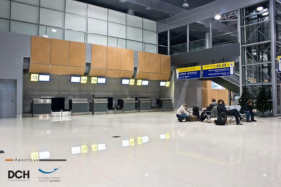 arcstone 12_Вестибюль_стойки_регистрации_Международный_Аэропорт_Харьков
